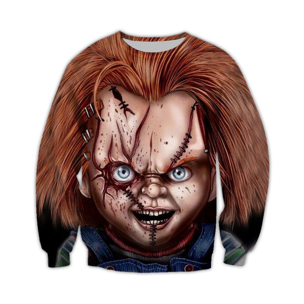 Chucky Horror Characters Halloween 3D Sweatshirt