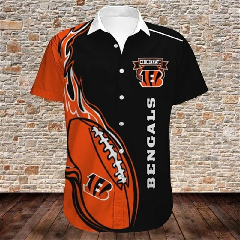 Cincinnati Bengals Hawaiian Shirts Fireball
