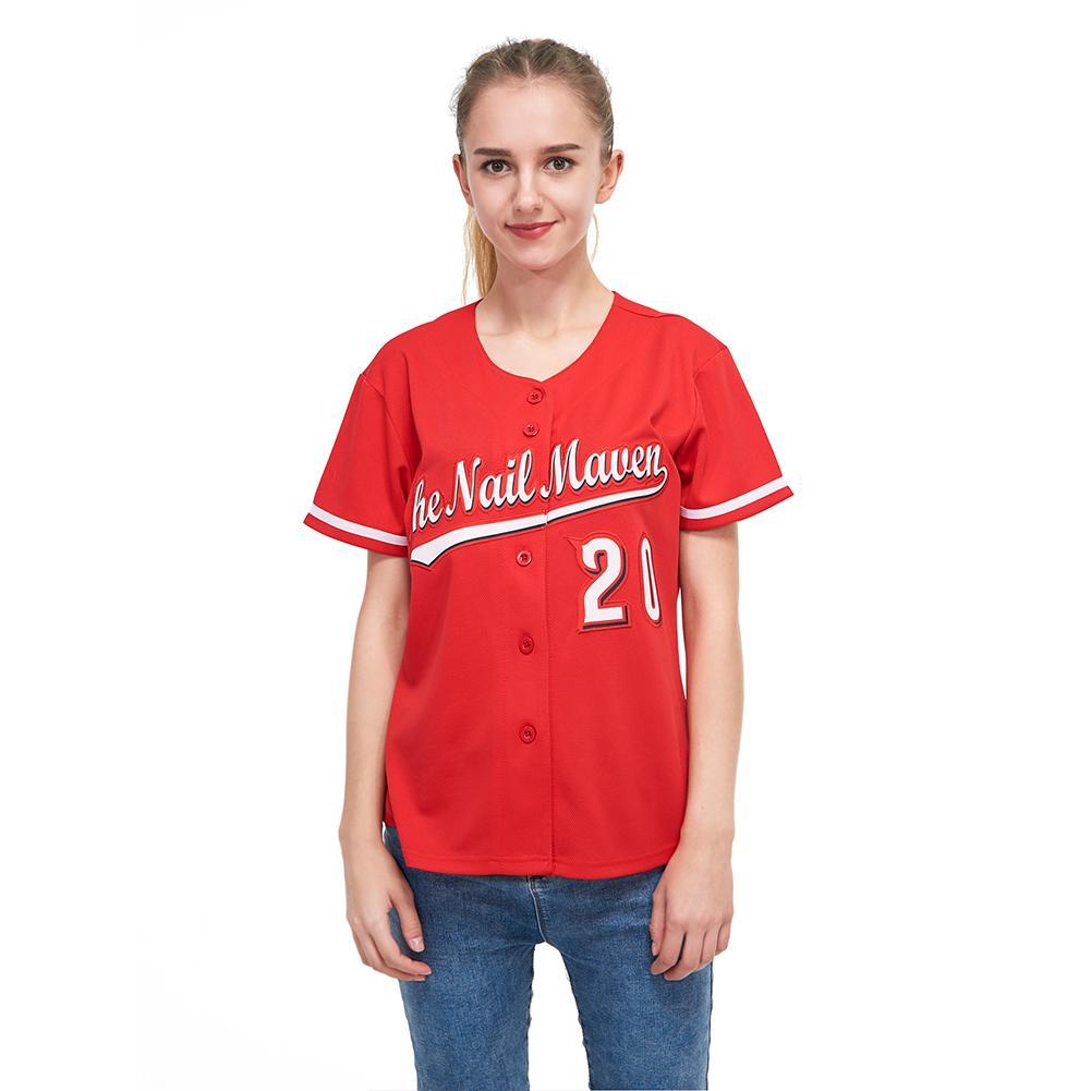 Custom Red White-Black classic Baseball Jersey