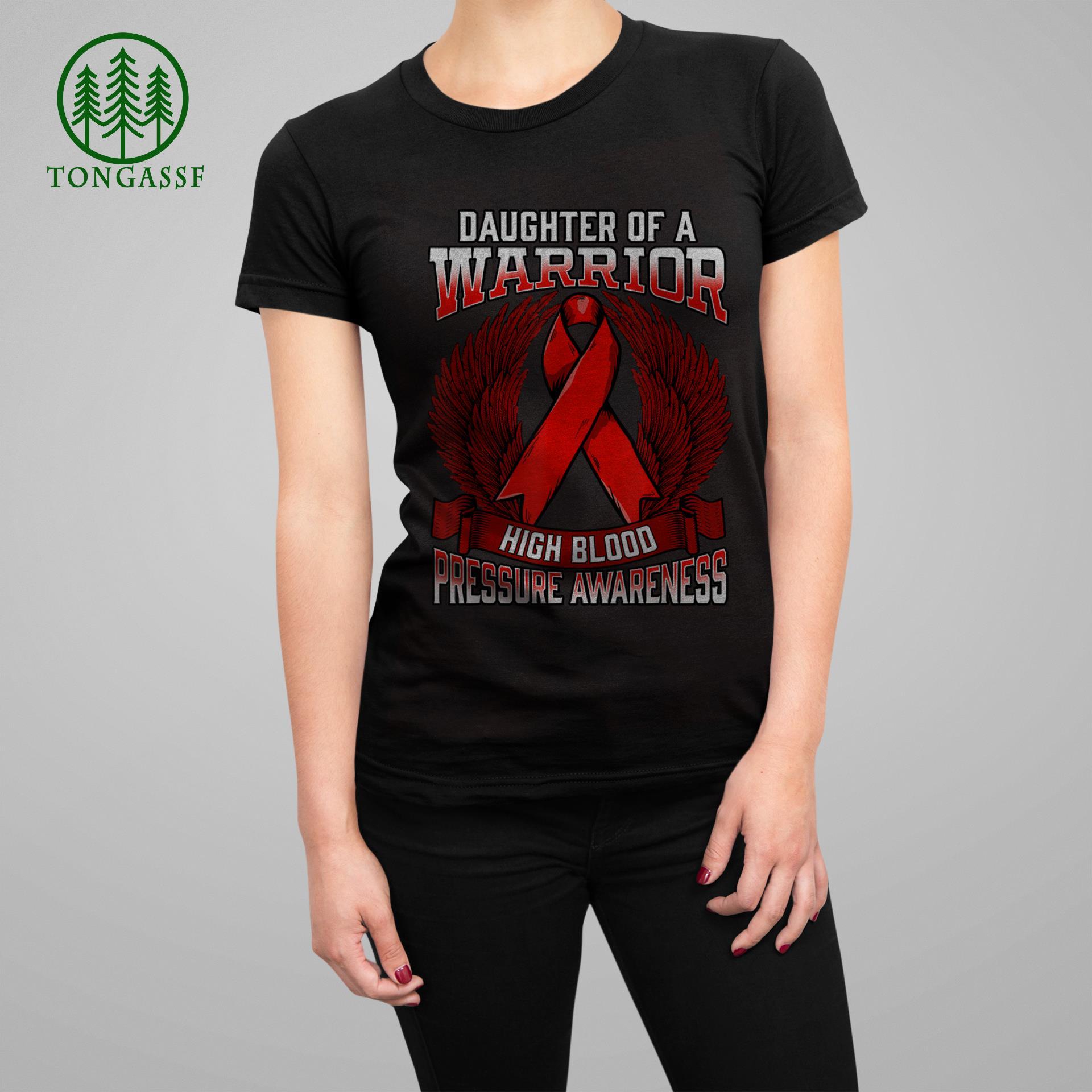 High Blood Pressure Awareness Daughter Support Ribbon T Shirt