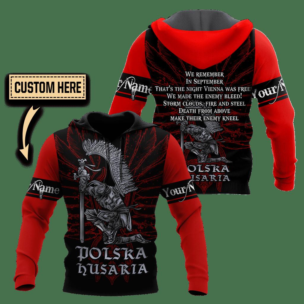 Polska Husaria Hussars Custom hoodie 3D