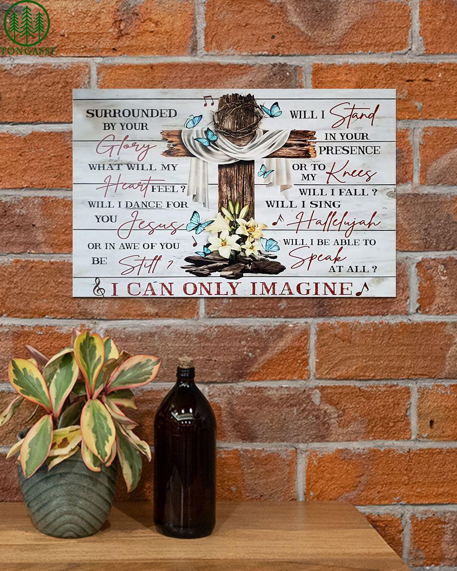 cross imagine jesus glory heart Poster