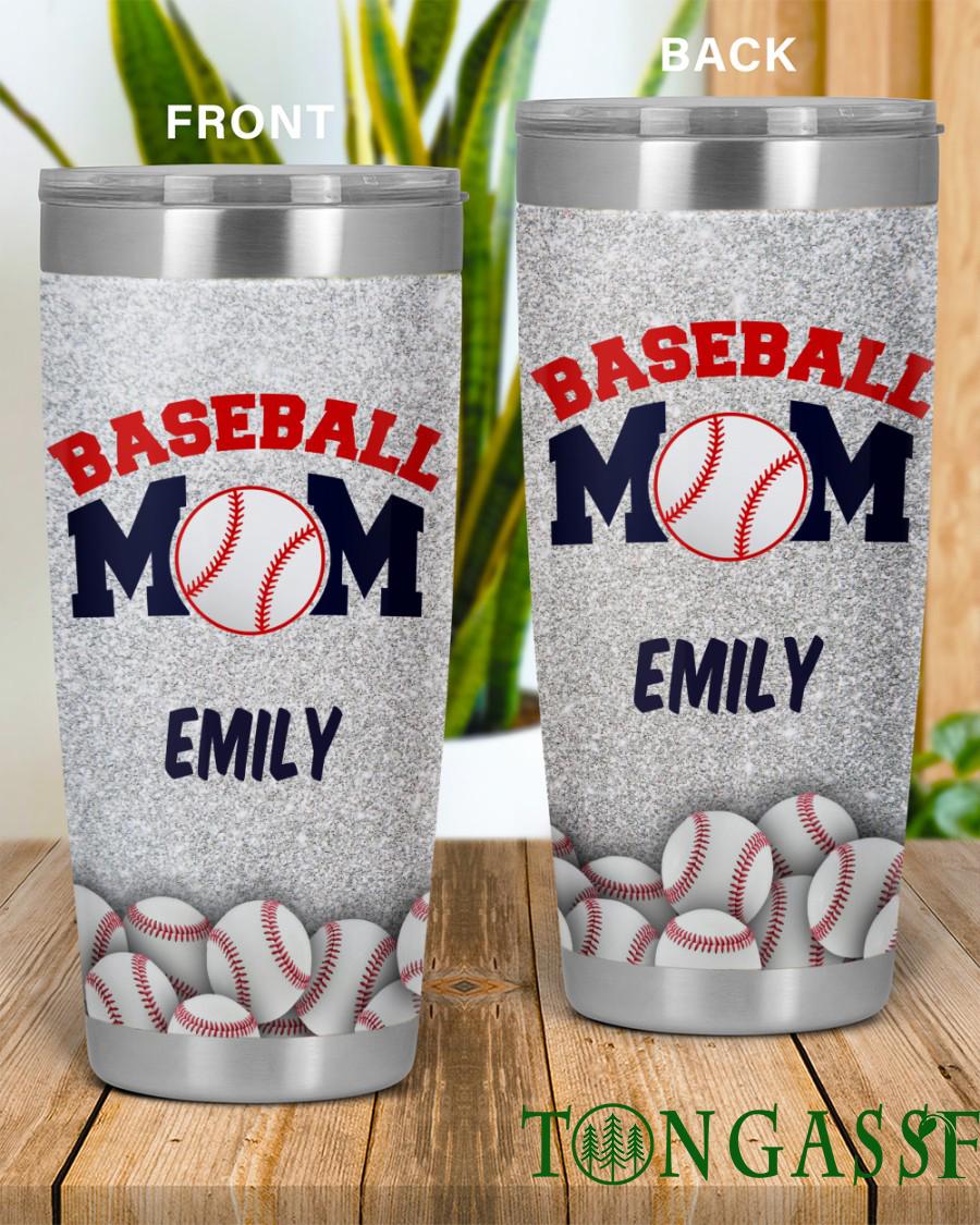 Custom Grey Mother Baseball Sport Tumbler