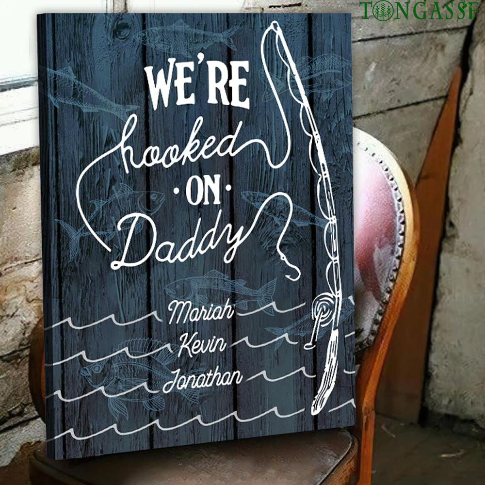custom hook on father fishing gear canvas