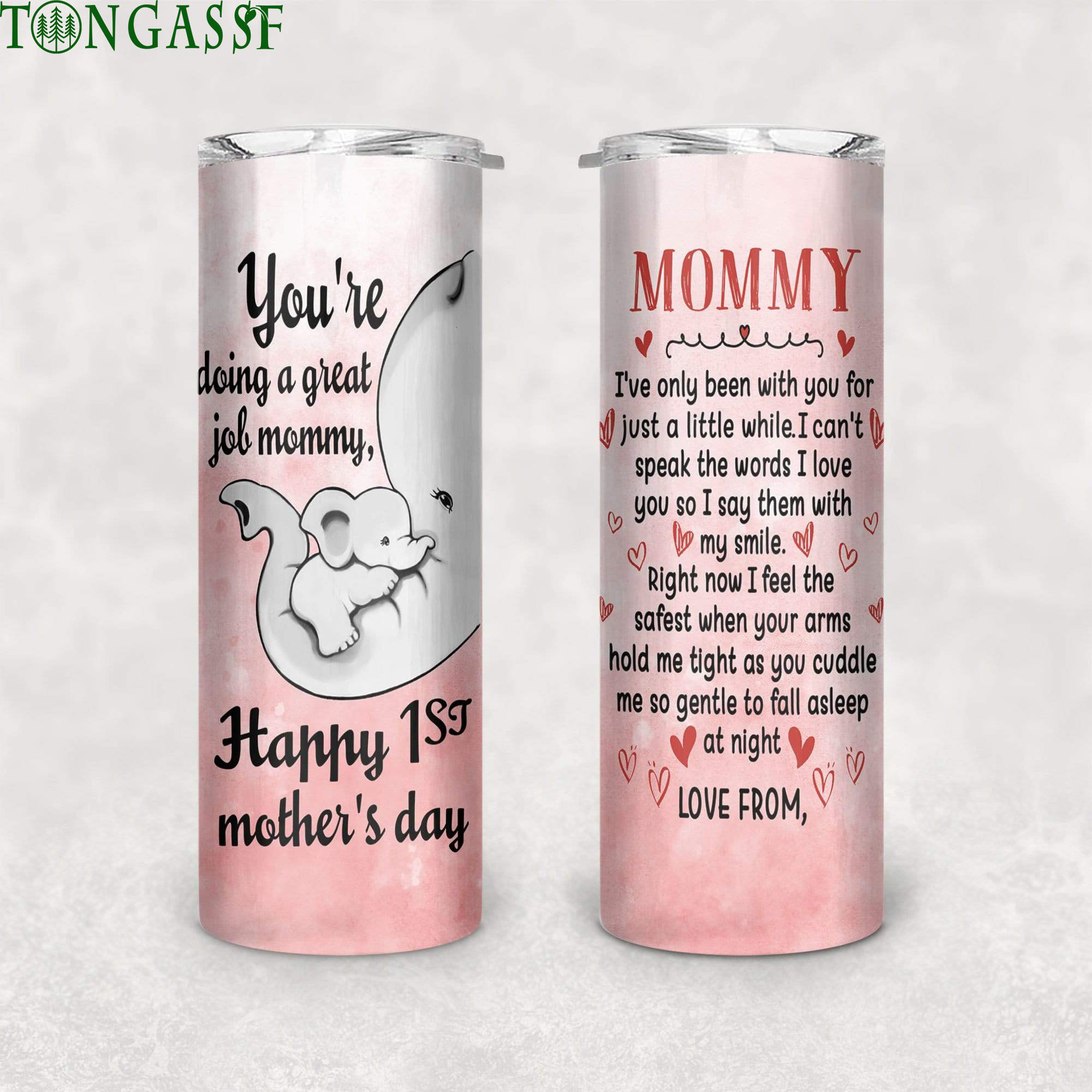 Custom You are doing a great job Mommy Skinny Tumbler