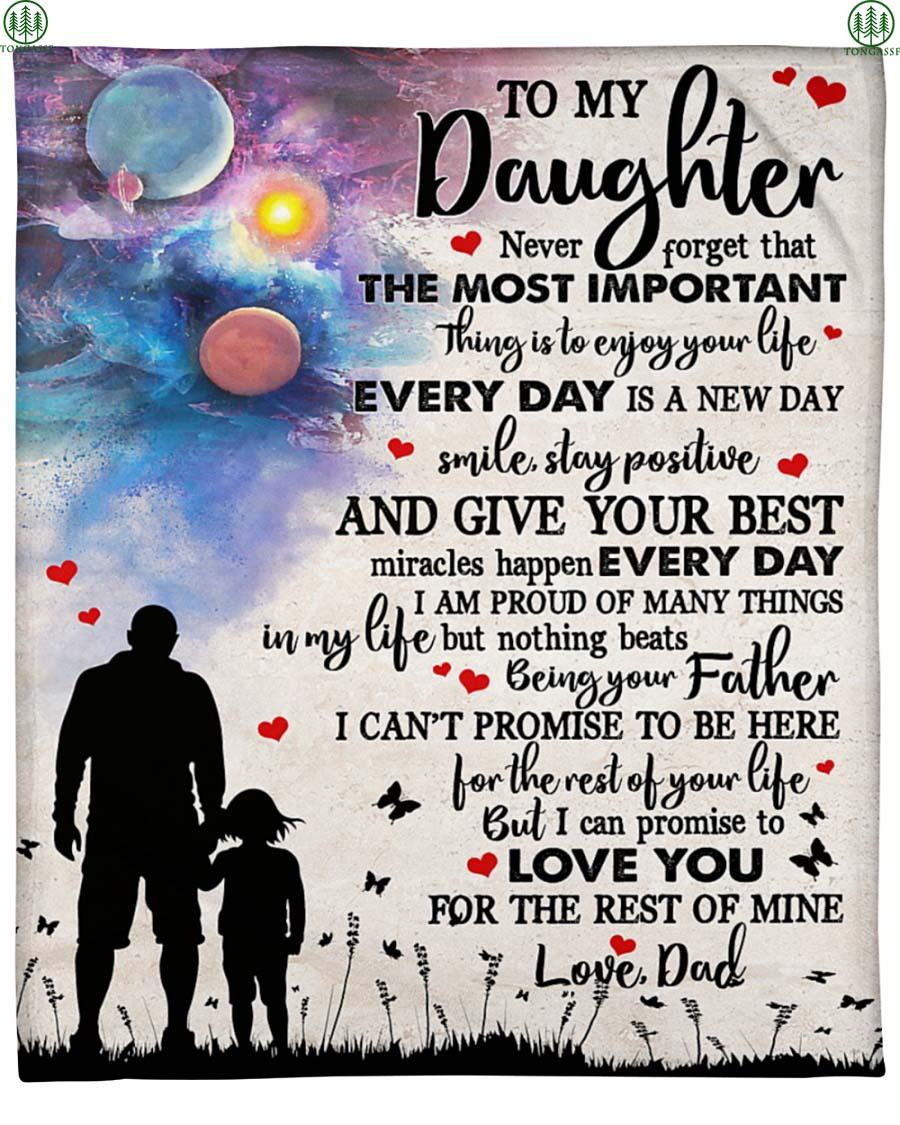 dad love daughter endless blanket