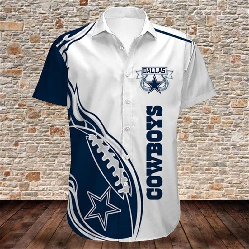 Dallas Cowboys Hawaiian Shirts Fireball