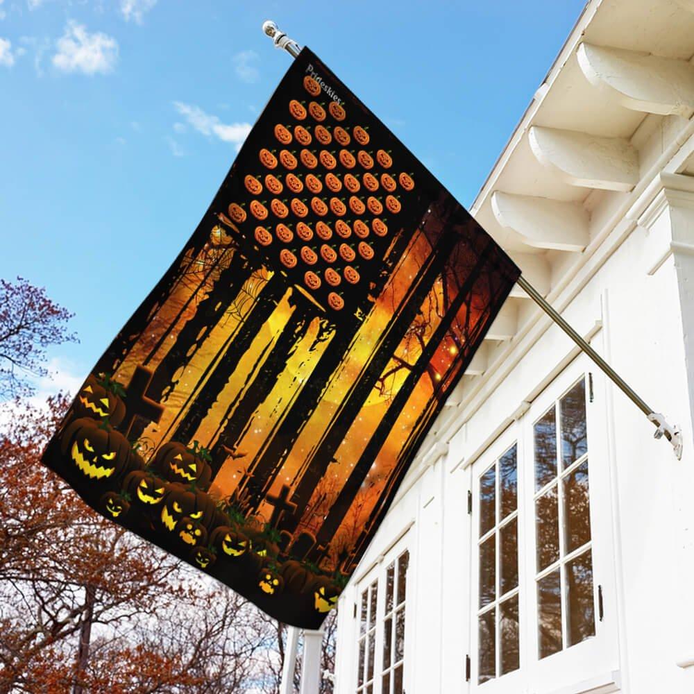 Pumpkin American Flag classic Halloween House Flag Garden Flag