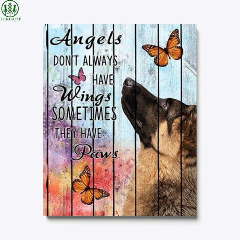 Dogs do not have wings Shepherd Canvas Print