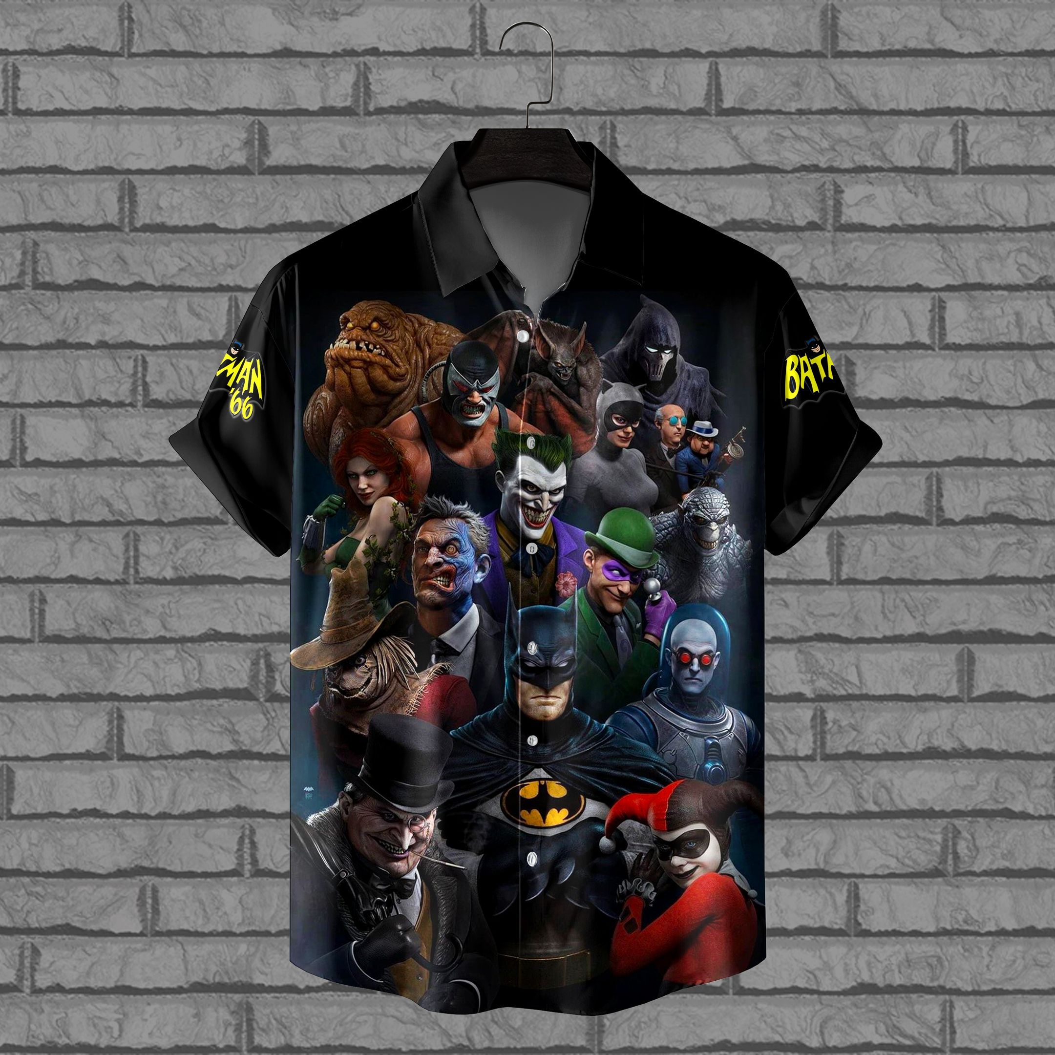 Batman Movie Animated Characters Hawaiian Shirt