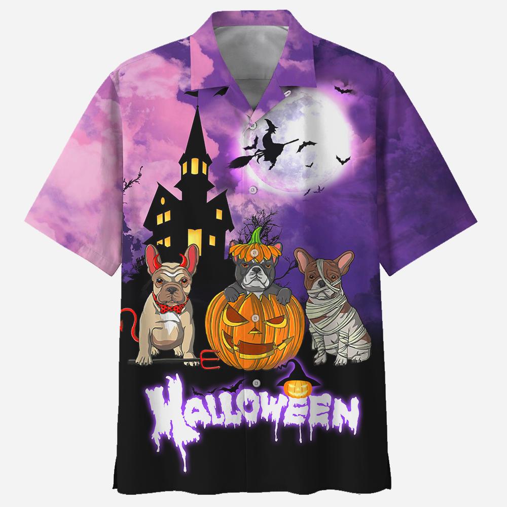 Pugs Dogs Hallloween Hawaiian Shirt and T Shirt