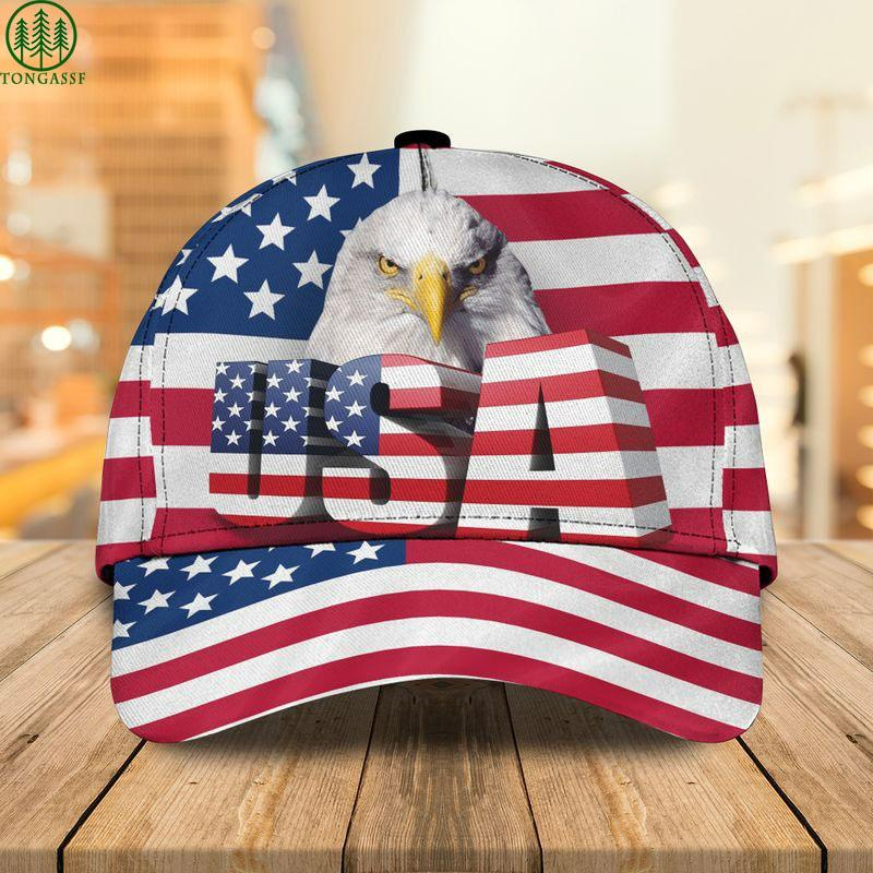 eagle usa flag cap