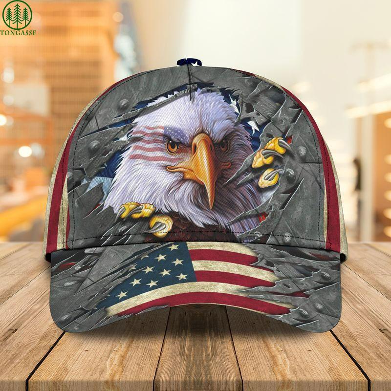 Eagle USA flag fierce Cap