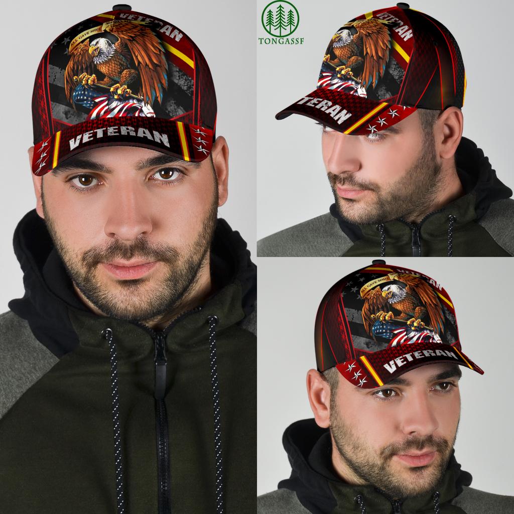 eagle veteran army red cap hat