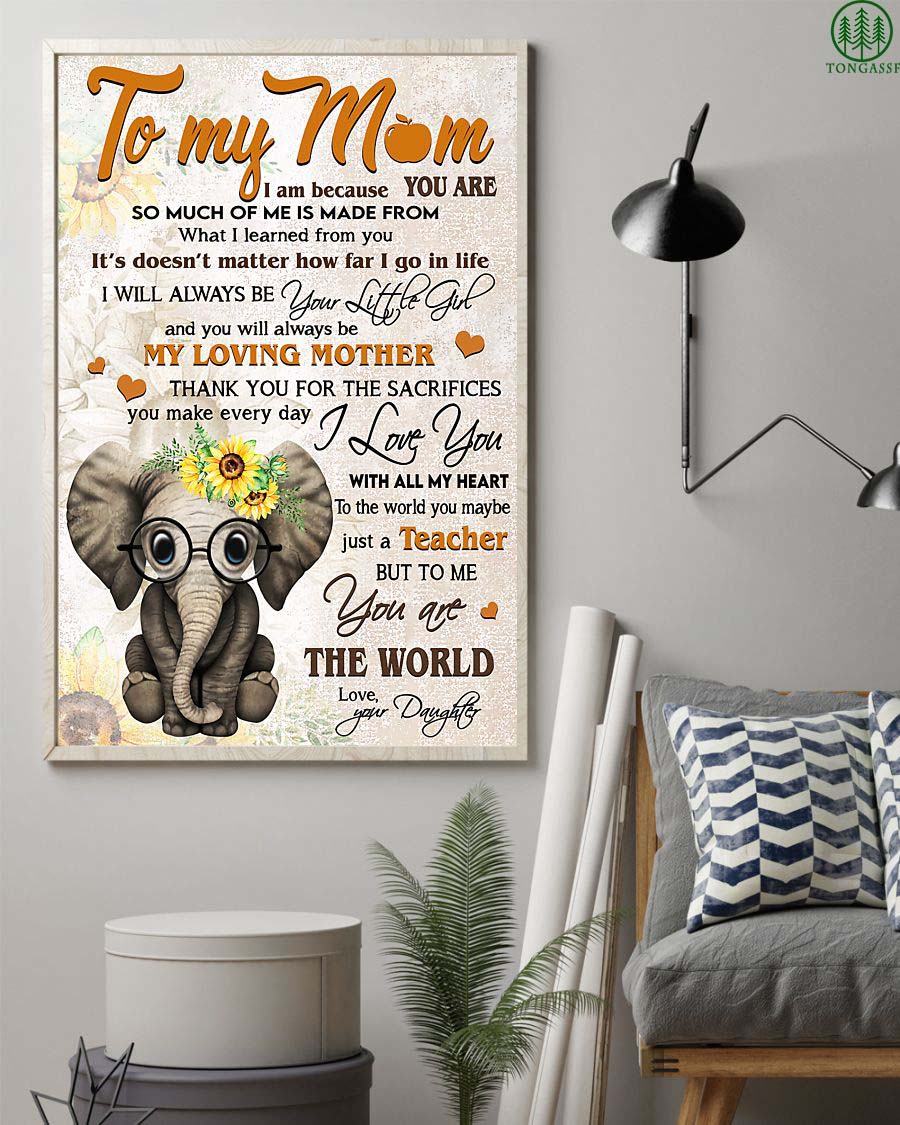 Elephant beloved mother of little girl poster