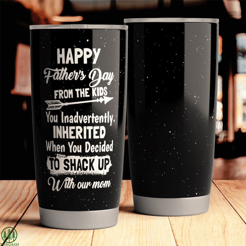 Father day Kids happy with our Mom Tumbler