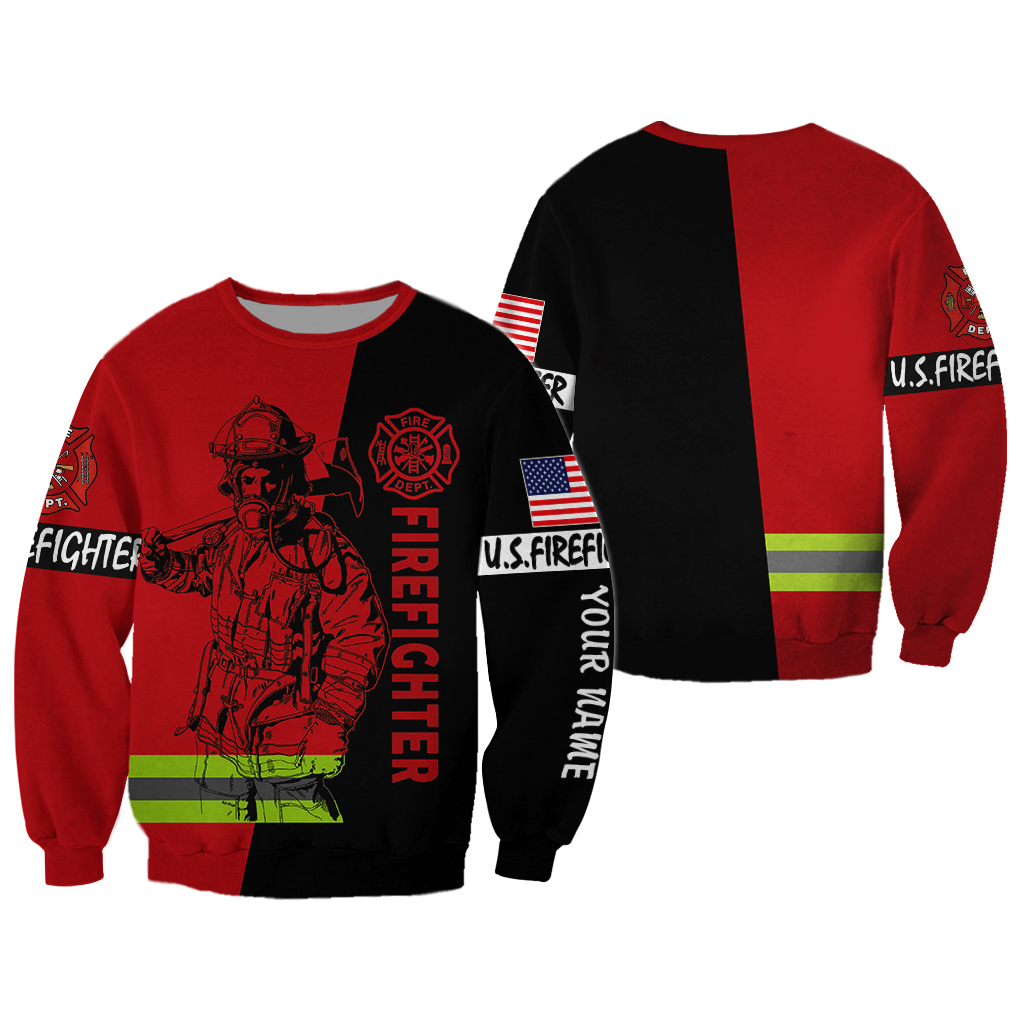 US Firefighter Personalized Name 3D Sweatshirt