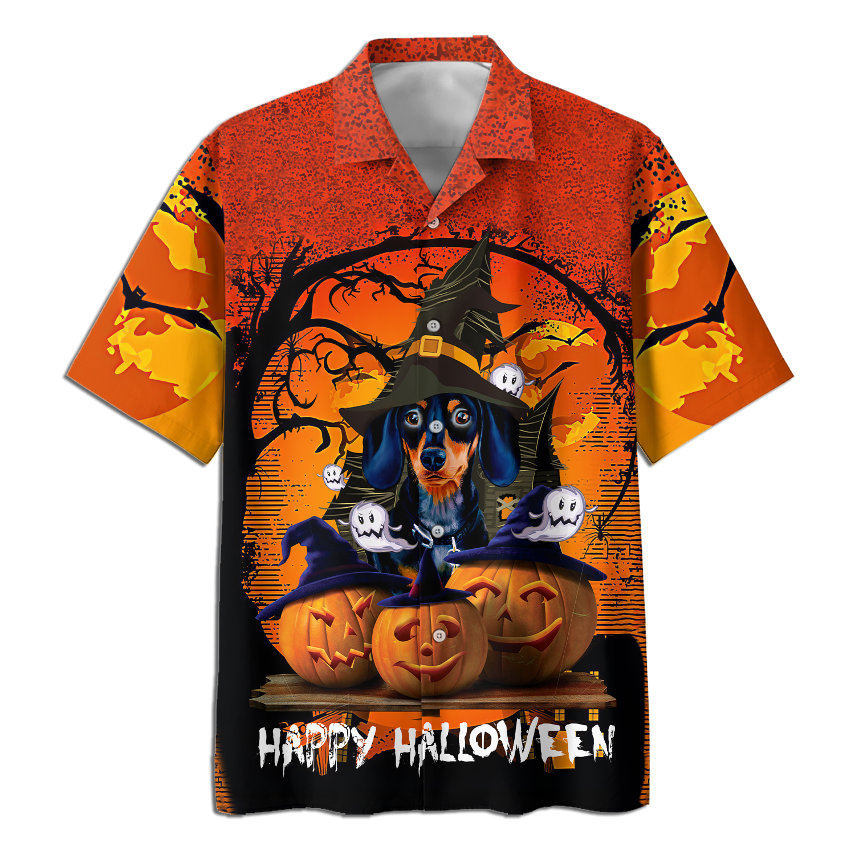 Dogs Hatwitch Hallloween Hawaiian Shirt and T-shirt