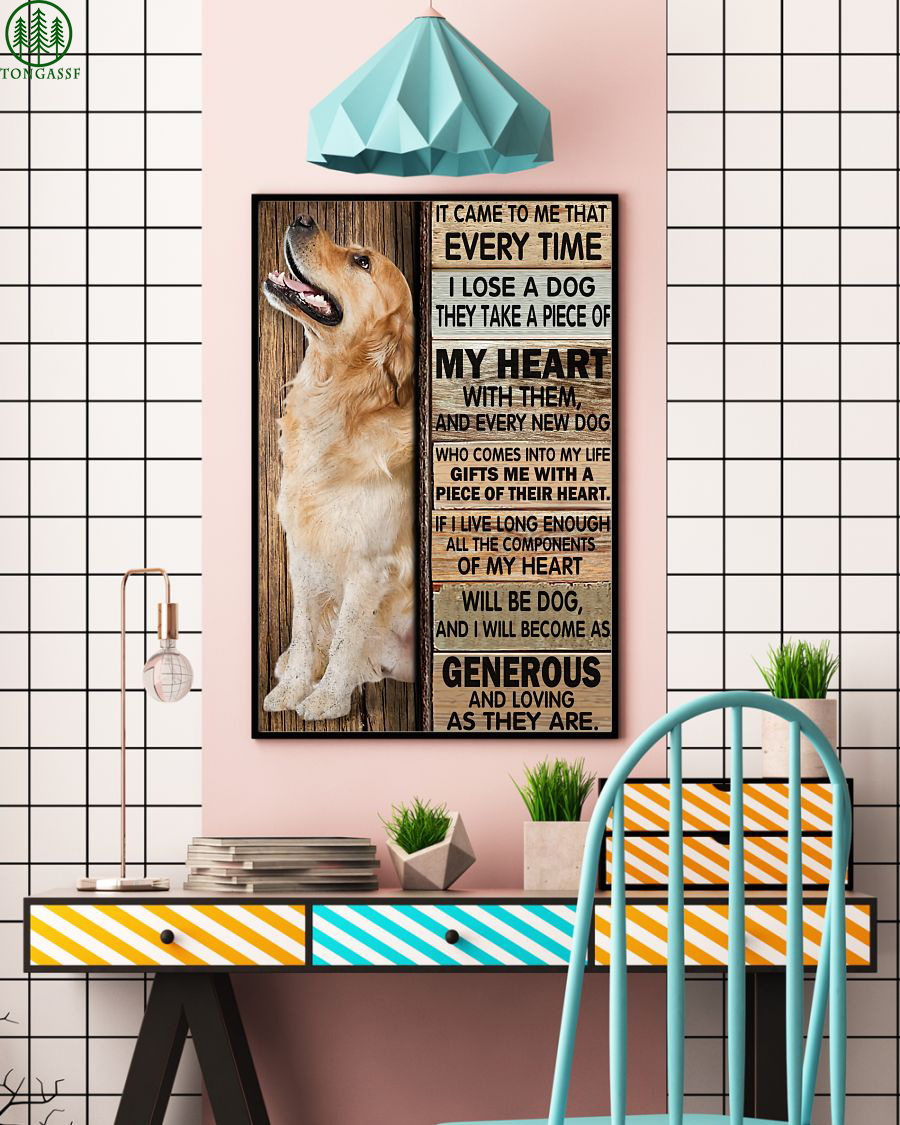 generous and loving Golden Retriever come to me Poster