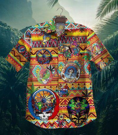 Gettyshirt Skull Tropical Vintage Grateful Dead Hawaiian Shirt