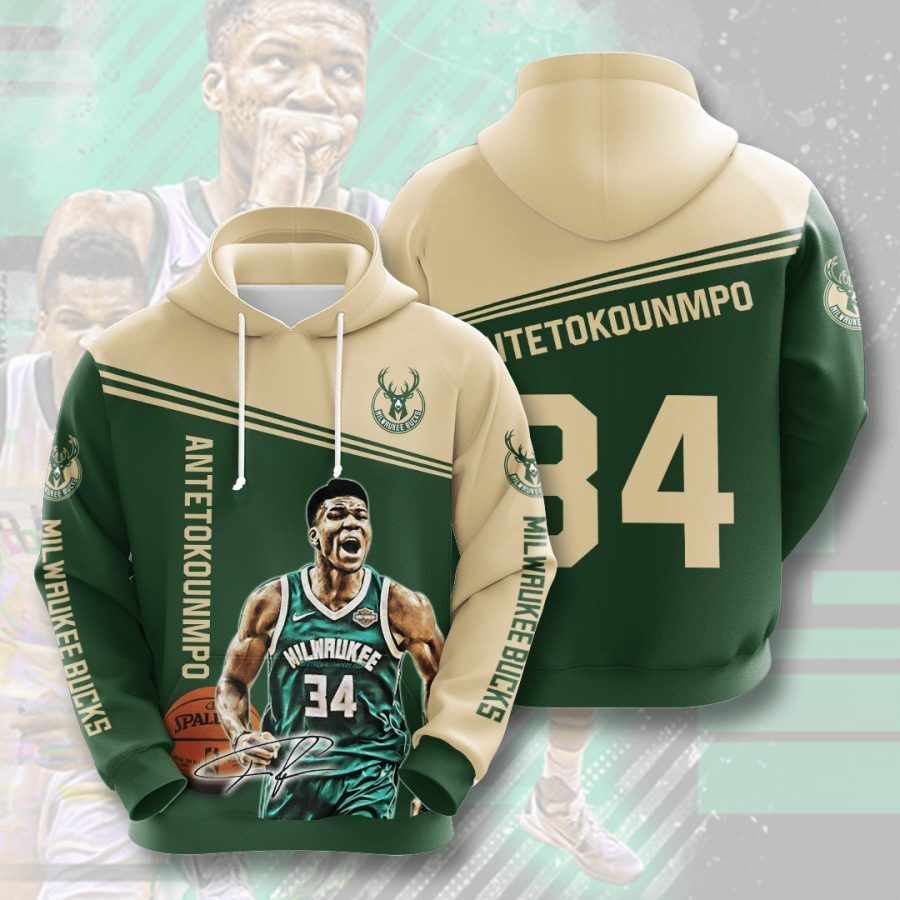 Giannis Antetokounmpo Milwaukee Bucks Men and Women 3D Hoodie