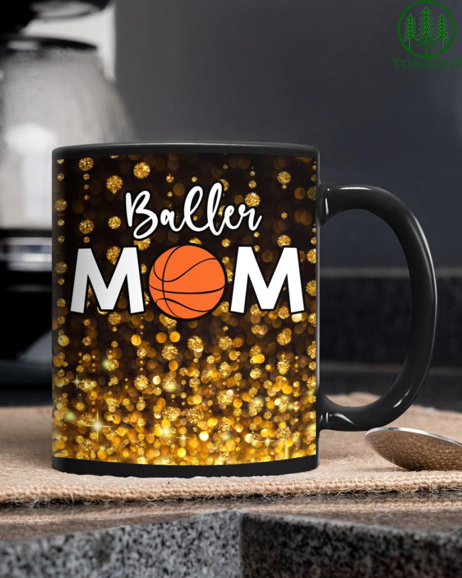 Gold Baller Basketball Mom Mug