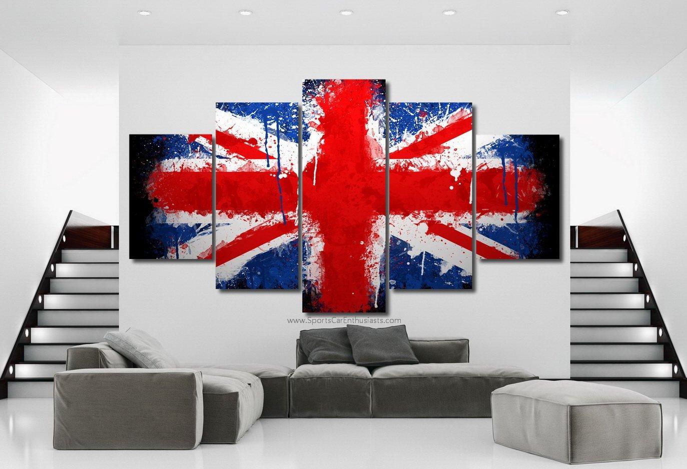 UK England Flag Canvas 5 panel