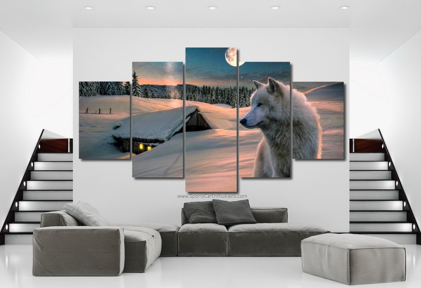 Best selling canvas 5 panel for wall decoration