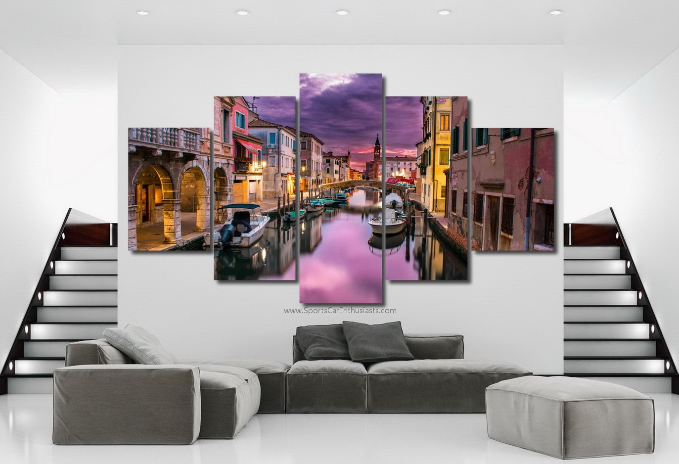 Canals in Venice Canvas 5 panel