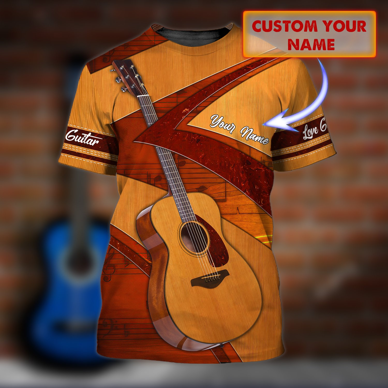 Classic Guitar 3D T Shirt