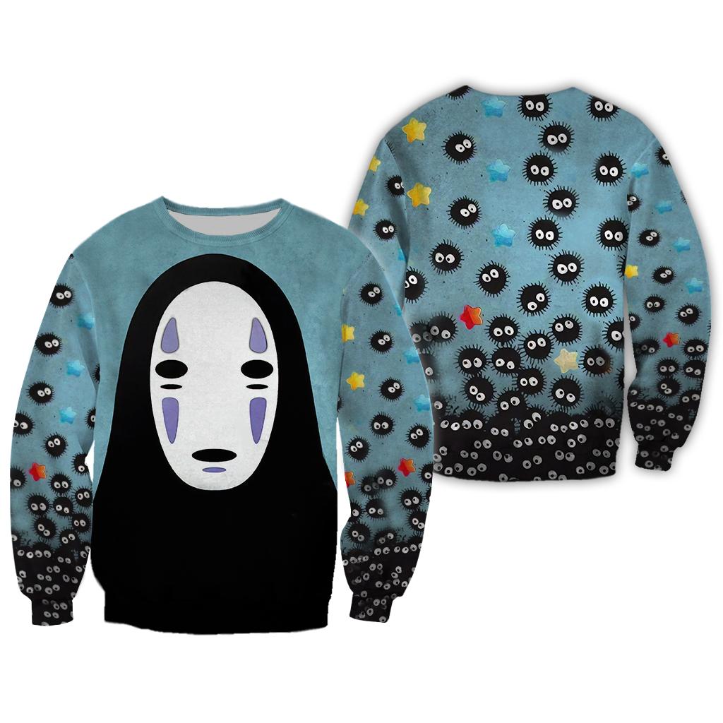 Faceless No face Spirited Away Halloween 3D Sweatshirt