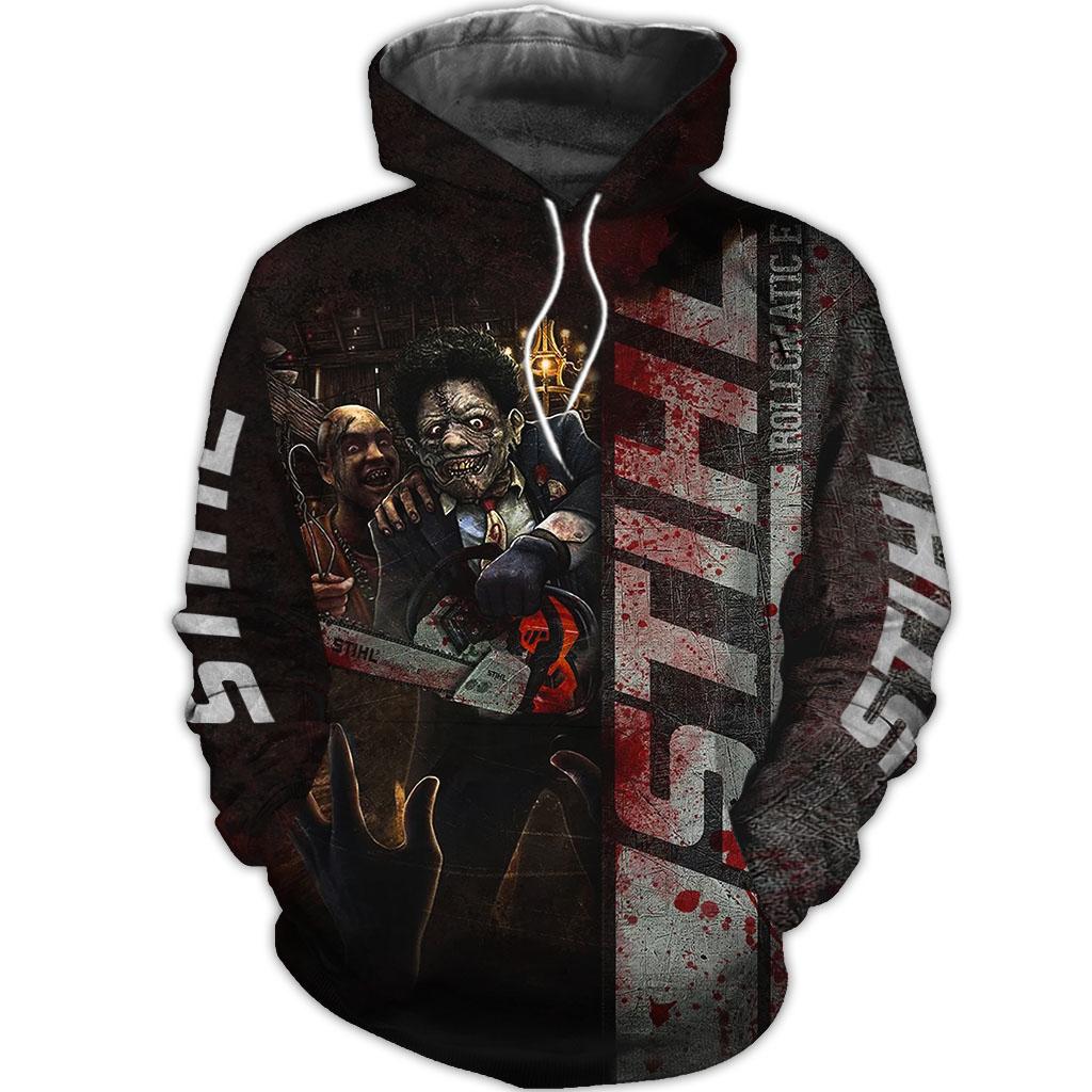 STIHL Chainsaw Horror Character Halloween 3D sweatshirt