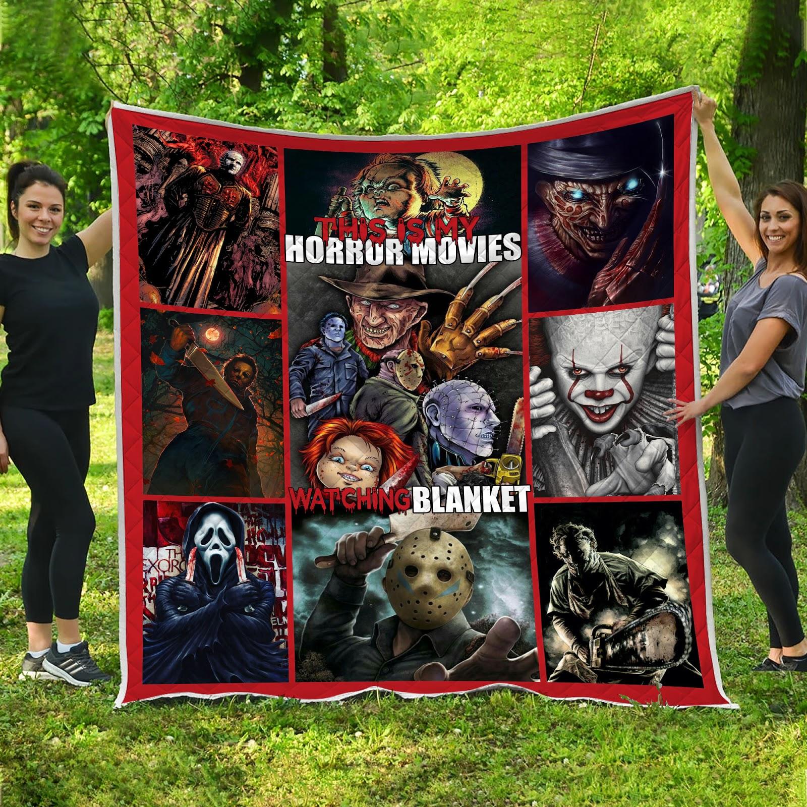 Horror Movies Halloween Quilt Blanket