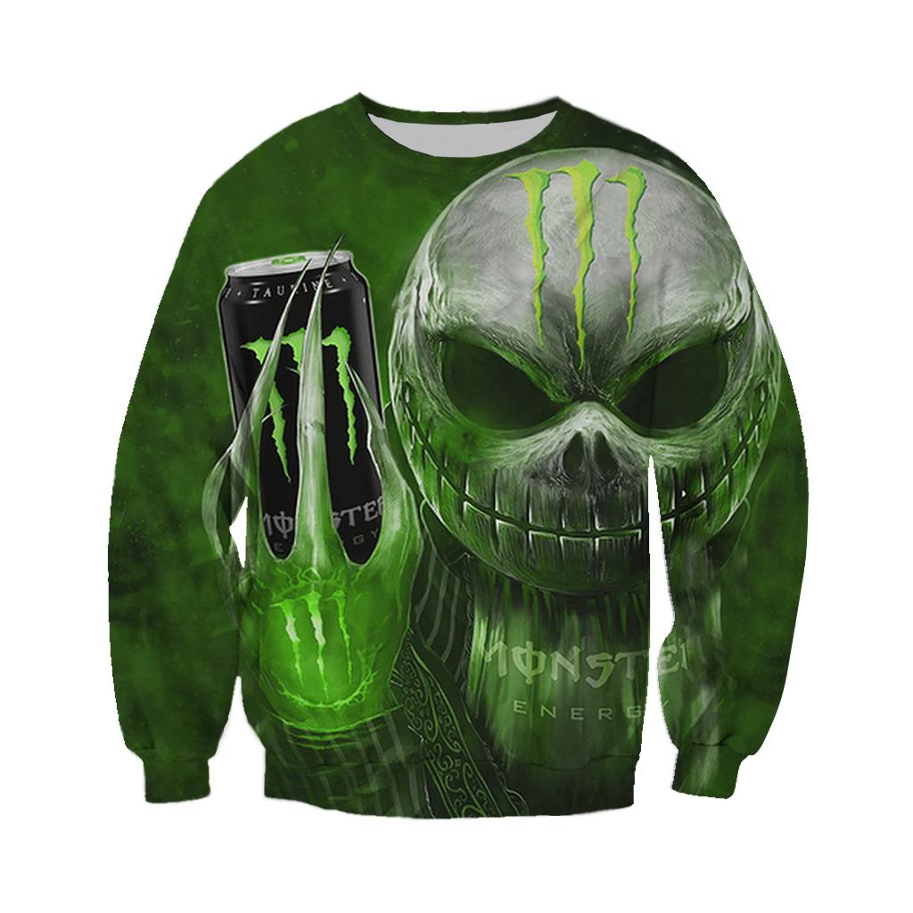 Monster Energy Jack Skellington Halloween 3D sweatshirt