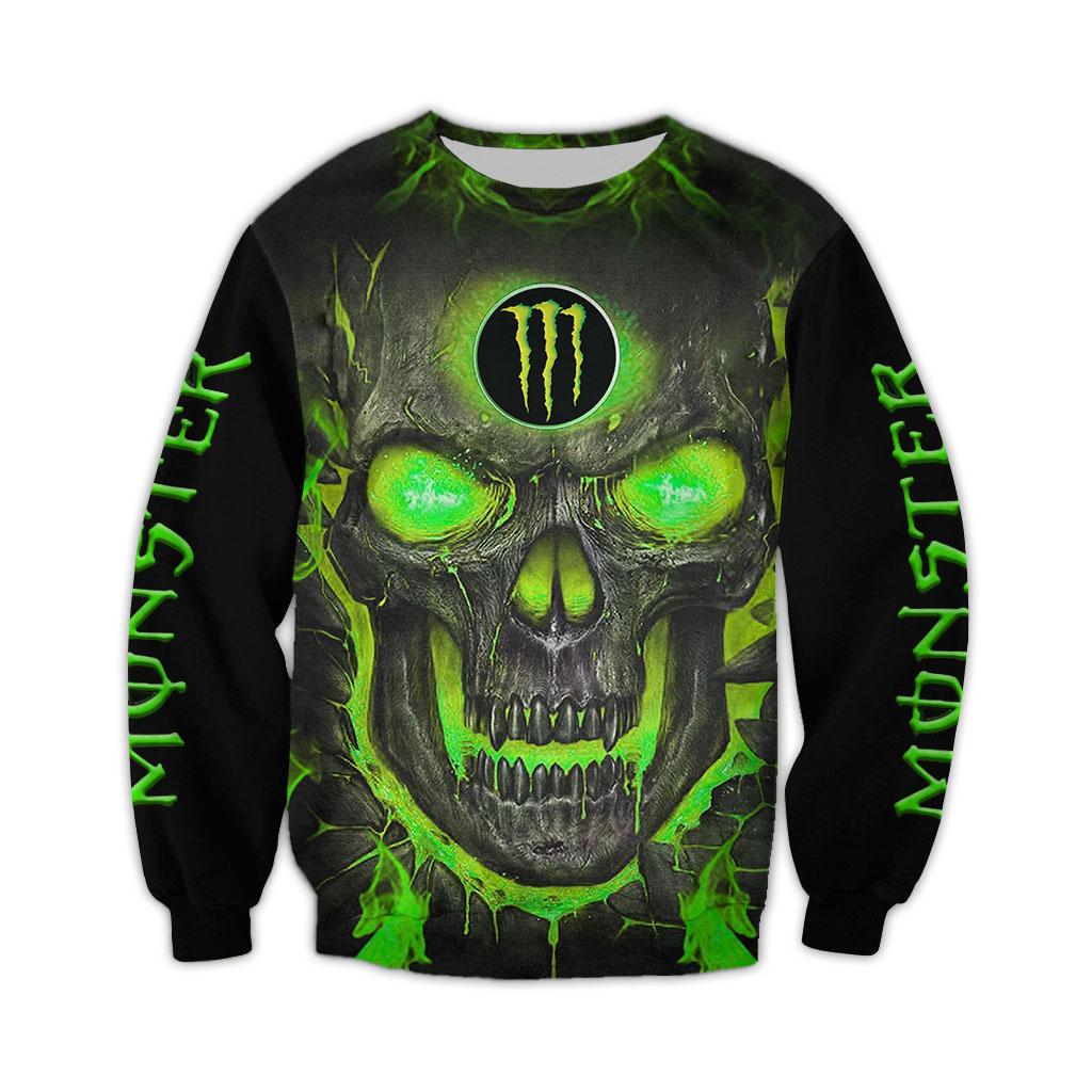 Monster Energy Skull Happy Halloween 3D Sweatshirt