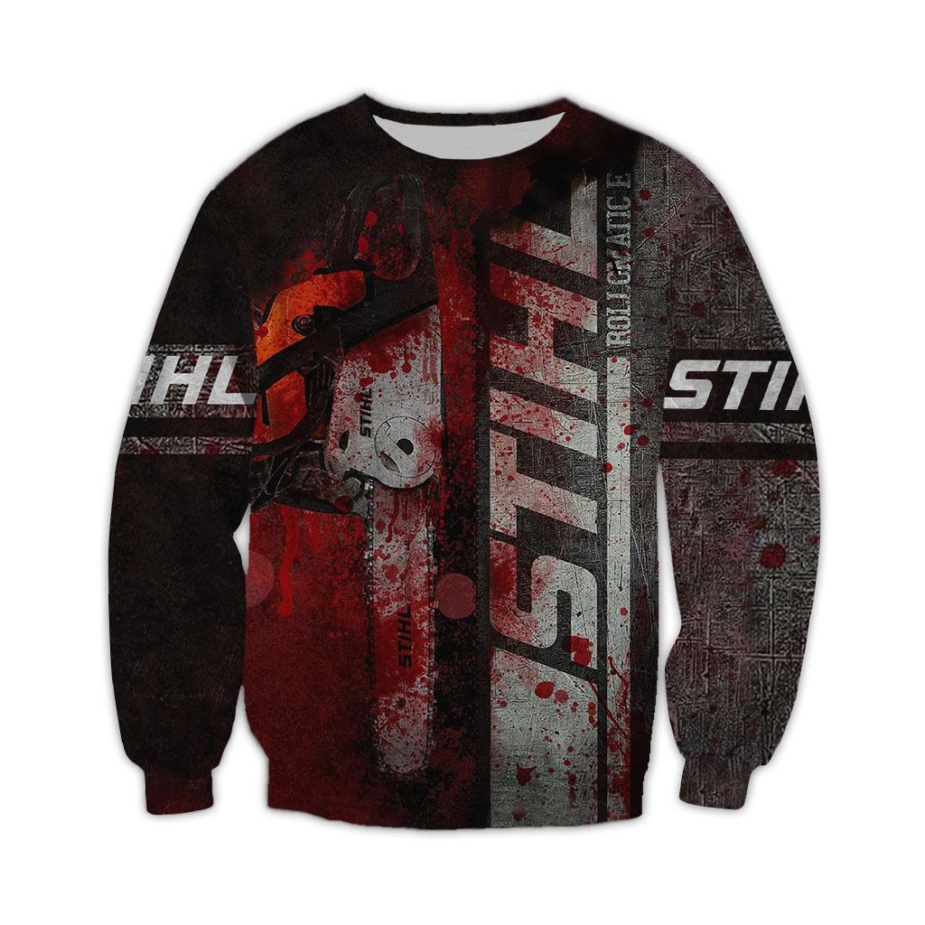 Chainsaw STIHL Brand Halloween 3D sweatshirt