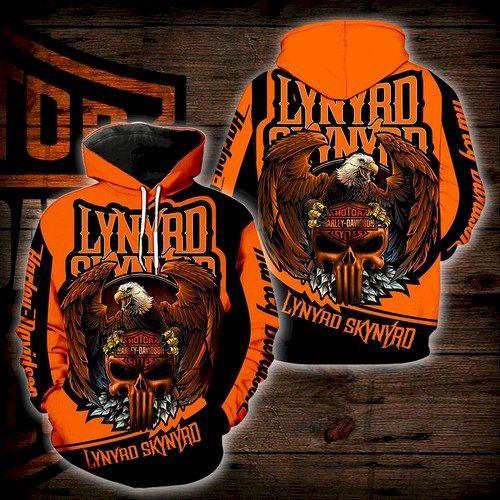 Harley Davidson Lynyrd Skynyrd Rock Band Hoodie 3D