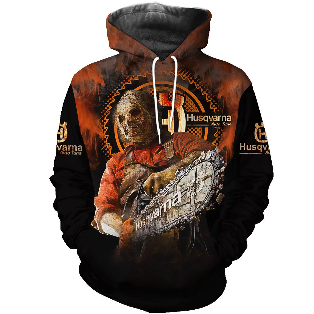Husqvarna Chainsaw Horror Leatherface Halloween 3D Sweatshirt
