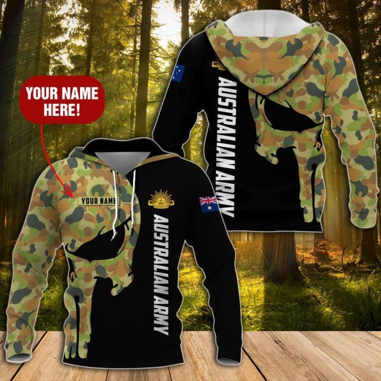 Australian Army SKull Custom Hoodie 3D