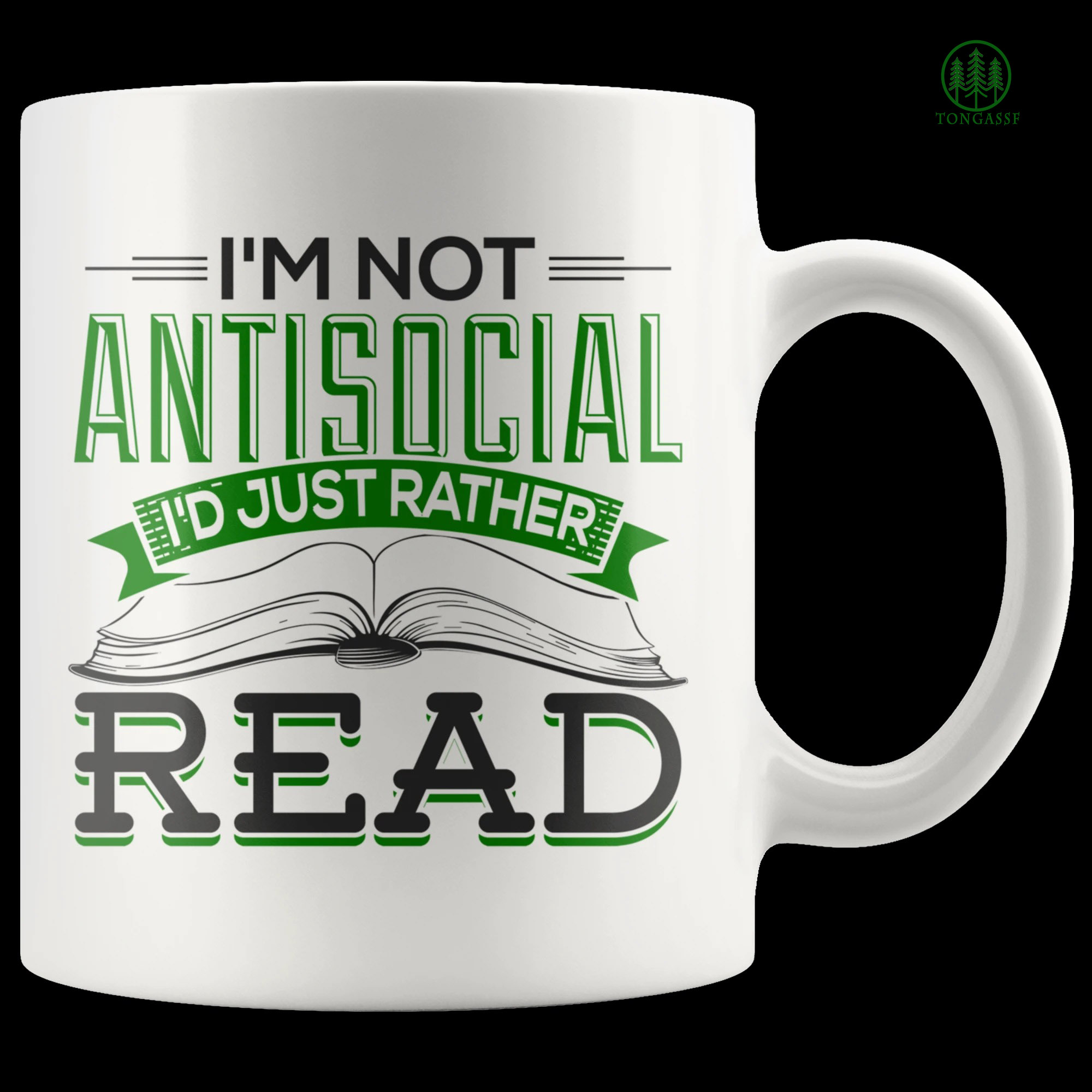 Introvert I am not antisocial I just rather read book mug