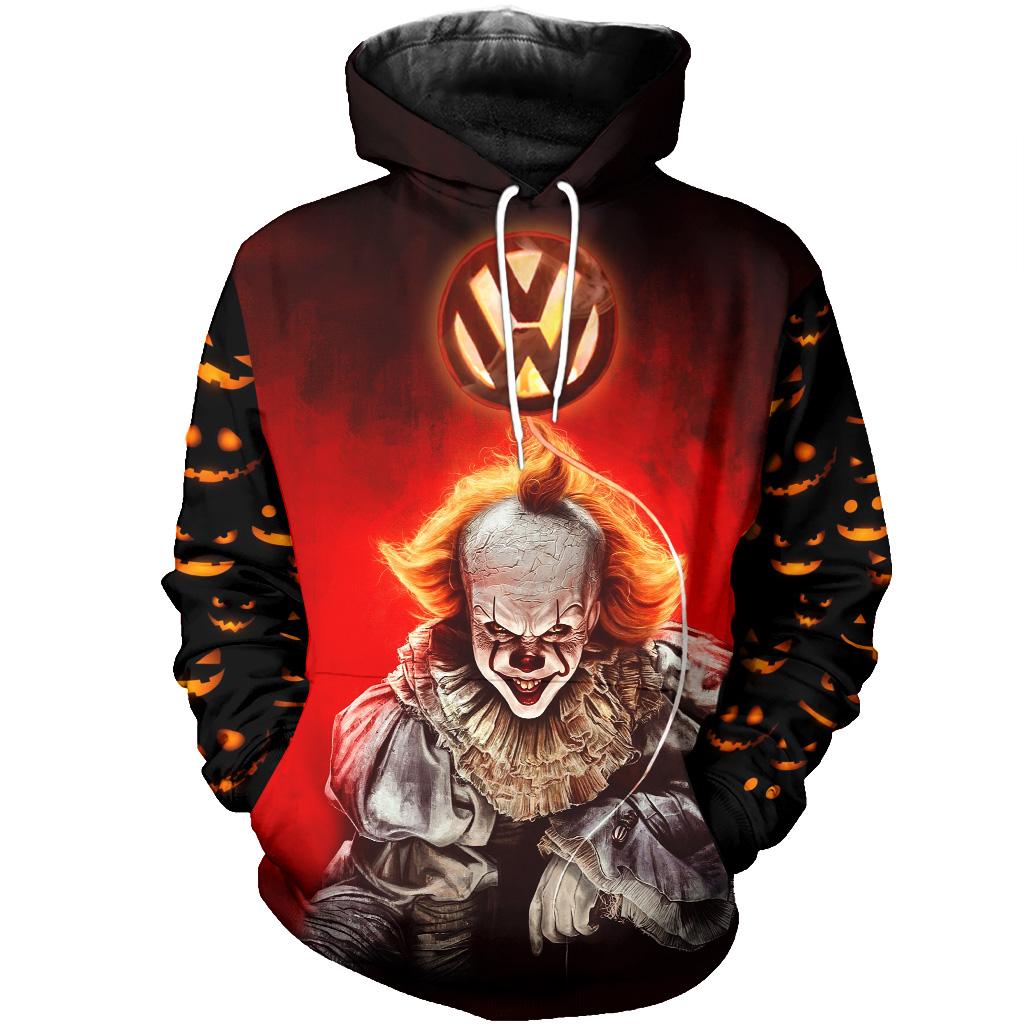 IT pennywise Volkswagen Halloween 3D sweatshirt