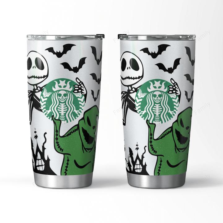 Ghost Halloween Jack Skellington Starbucks Skeleton TUMBLER
