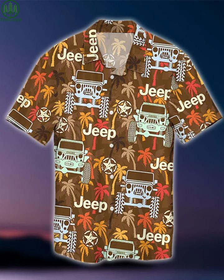 Jeep Palm Tree Hawaiian Shirt