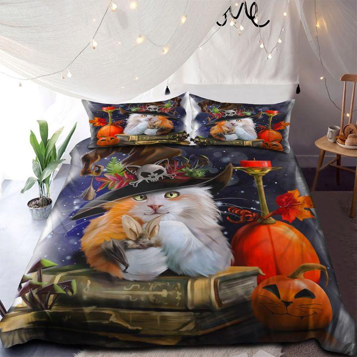 I Am A Witch Cat Happy Halloween Bedding Set