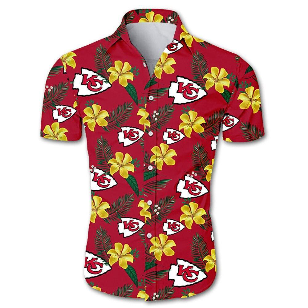 Kansas City Chiefs Hawaiian Shirt Floral