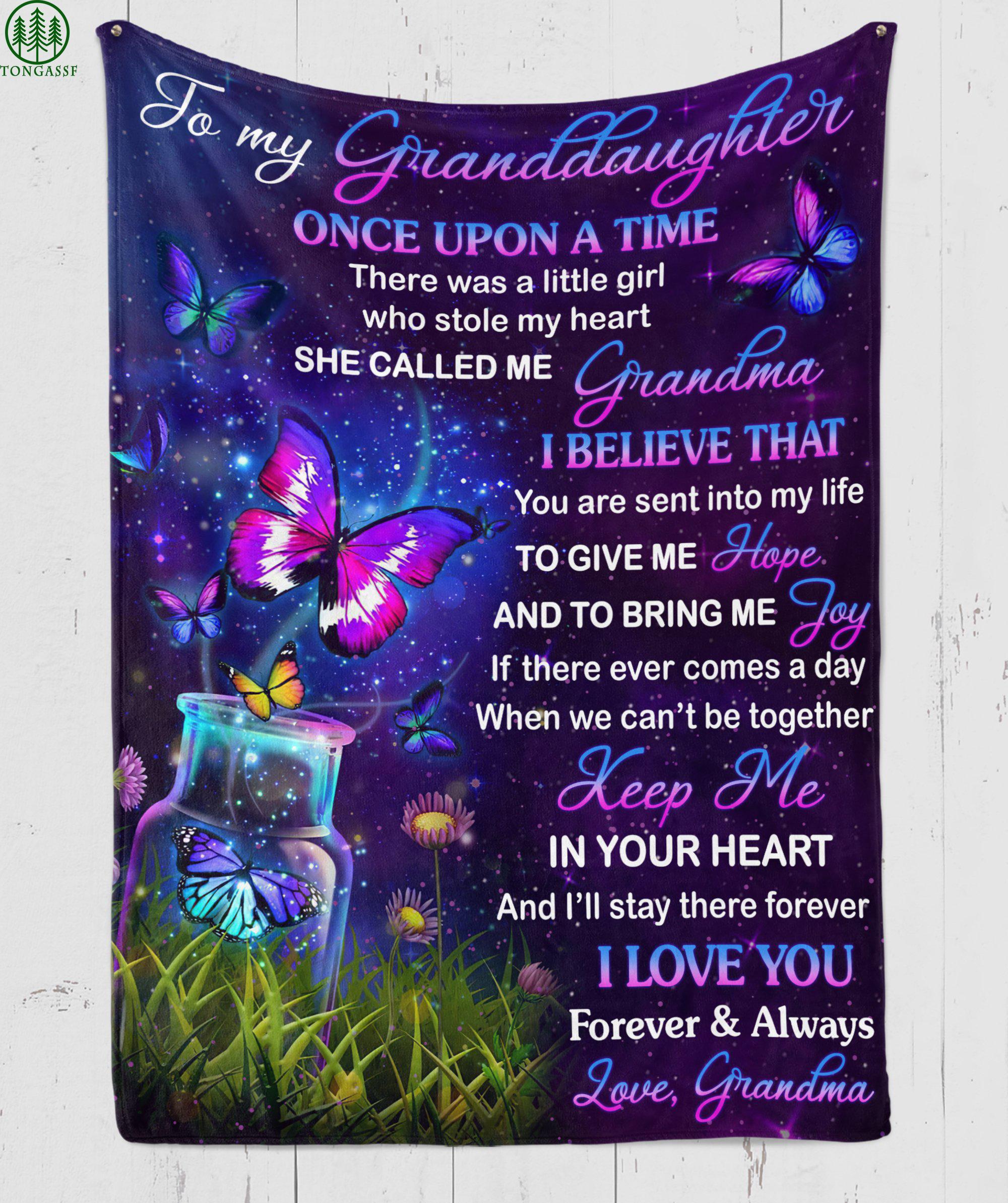 keep me in your love granddaughter mommy purple fleece blanket