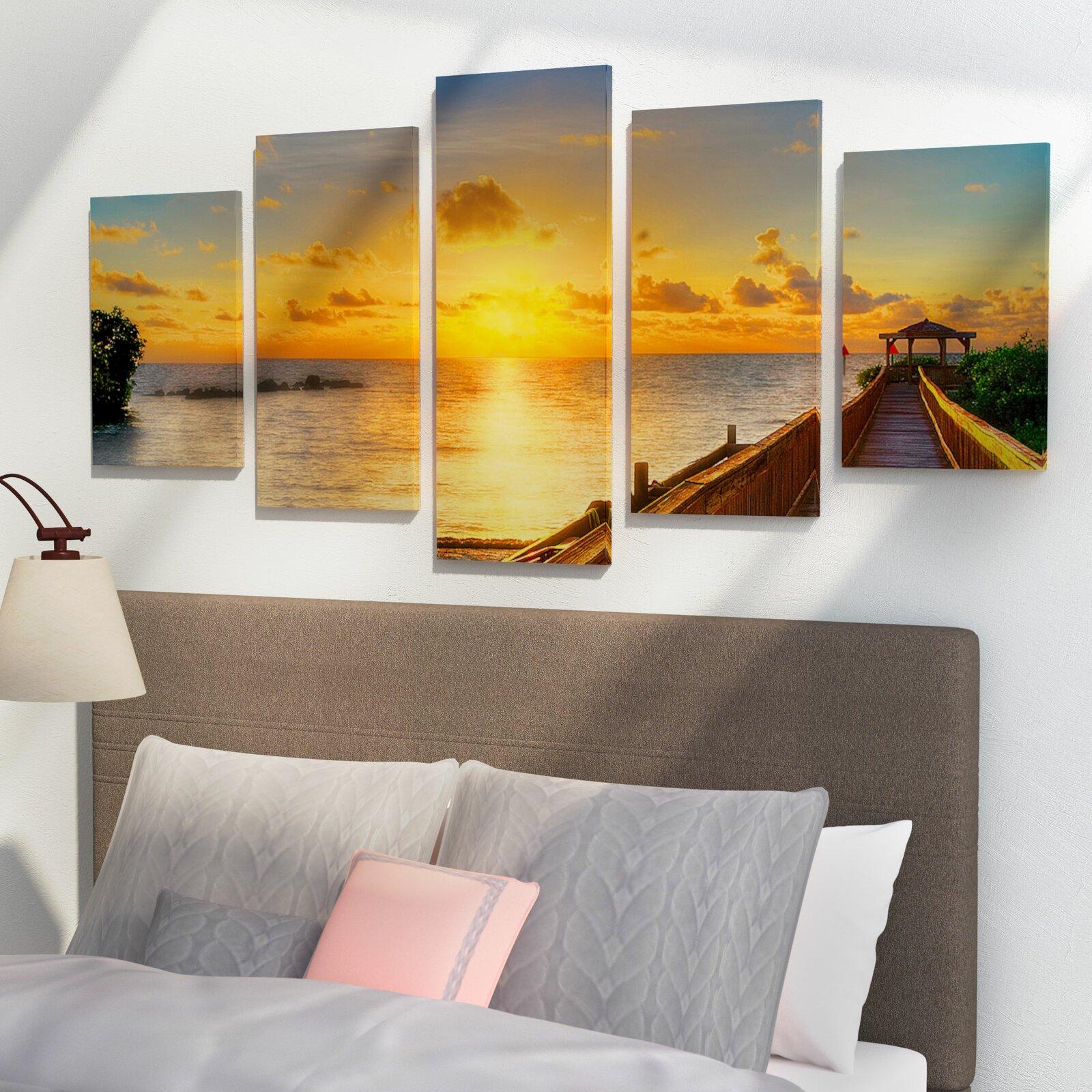 Key Sunrise by Bruce Bain 5 Piece Wrapped Canvas