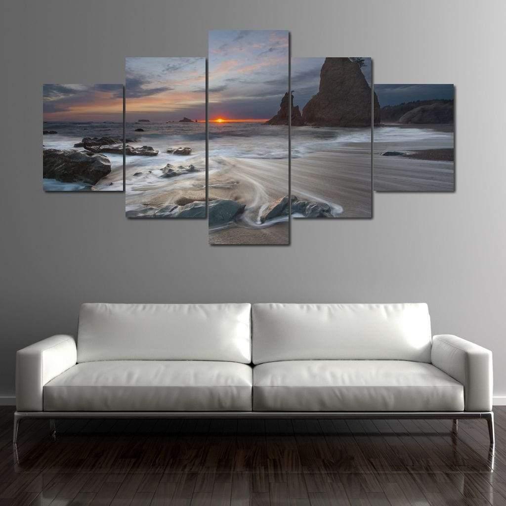 Beautiful Sea Wave 5 panel wall art canvas