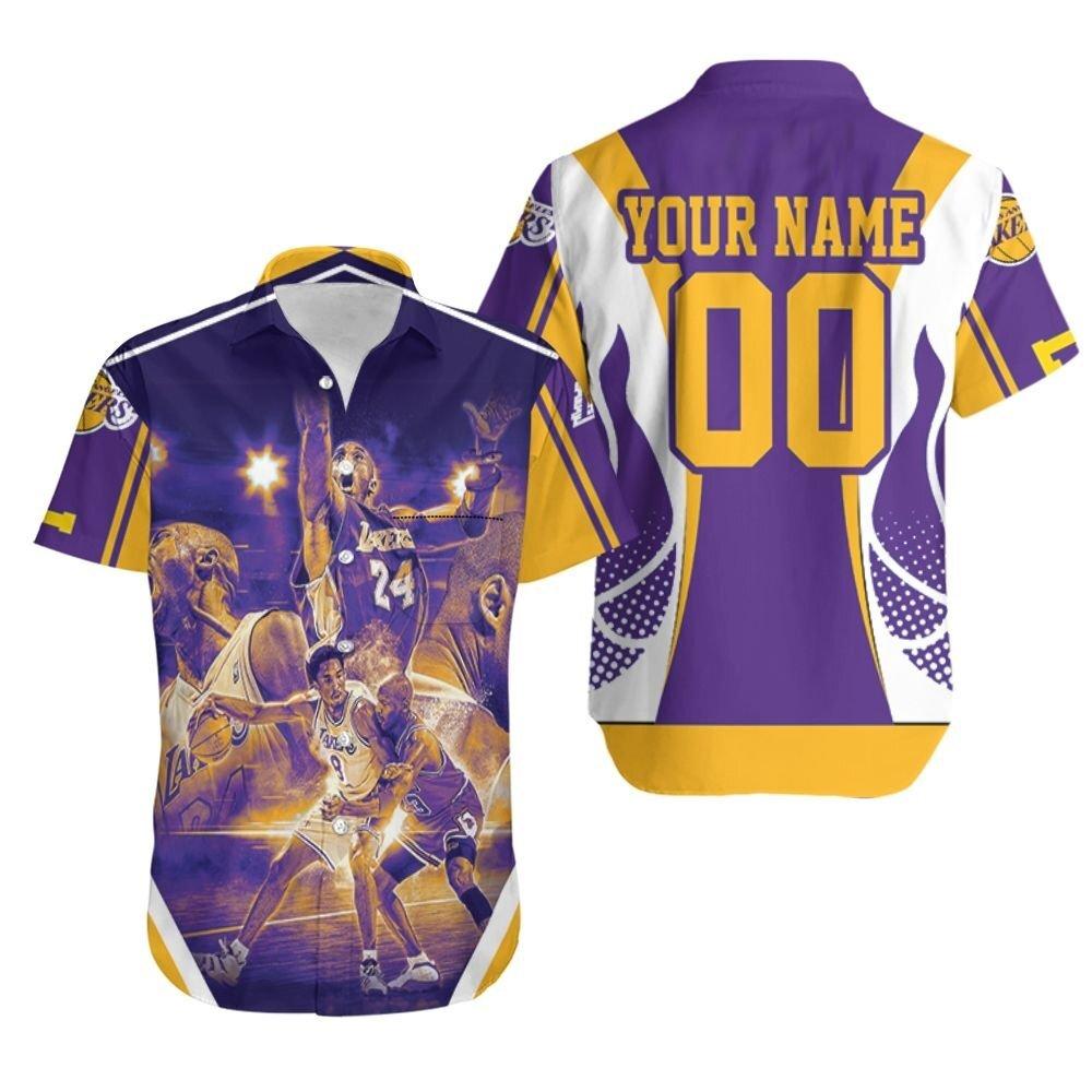 Legend Kobe Bryant 24 Western Conference Los Angeles Laker Personalized Hawaiian Shirt