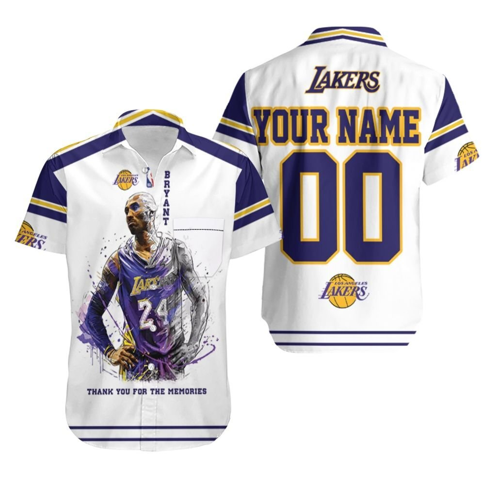 Legend Kobe Bryant Los Angeles Lakers Thank You For The Memories Personalized Hawaiian Shirt